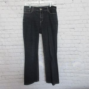 NYDJ Dark Wash Flare Flair Wide Leg